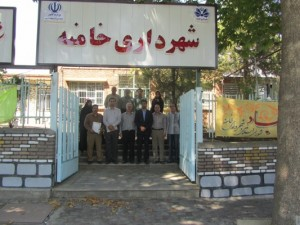 تجلیل از کارمندان شهرداری خامنه