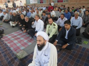 گزارش تصویری از اقامه نماز عید سعید فطر در خامنه-1393/5/7