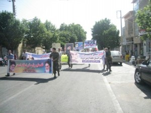 گزارش تصویری از راهپیمایی روز جهانی قدس شهر خامنه- 1393/5/3-قسمت اول