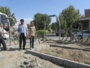گزارش تصویری روند احداث پارک محله ای کودکان 93.6.24