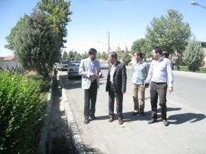 بازدید بخشدار شبستر از پروژه های عمرانی شهرداری خامنه