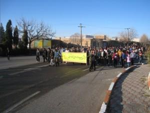 همایش پیاده روی خانوادگی و مراسم انتخاب شهروند نمونه خامنه برگزار گردید