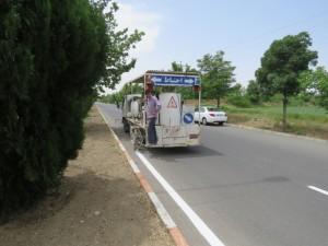 آغاز پروژه خط کشی معابر و علائم افقی راهنمایی و رانندگی شهر خامنه