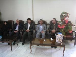 دیدار شهردار و شورای اسلامی با رییس دادگستری و دادستان شهرستان به مناسبت هفته قوه قضاییه