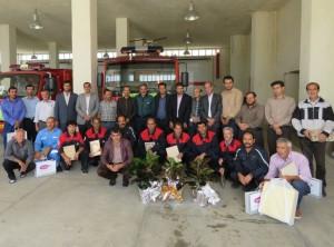 تجلیل از آتش نشانان بمناسبت ۷ مهر روز ایمنی و آتش نشانی