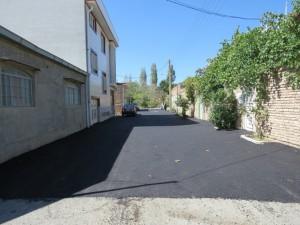 گزارش تصویری از اجرای پروژه آسفالت ریزی خیابان ها و محلات سطح شهر