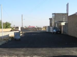 گزارش تصویری از ادامه فاز دوم پروژه آسفالت ریزی