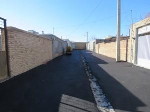 پروژه آسفالتریزی خیابانها و محلات شهر، همچنان در دستور کار شهرداری خامنه
