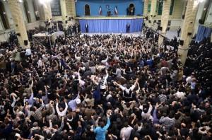 حضور پر شور خامنهای ها در مراسم دیدار با مقام معظم رهبری