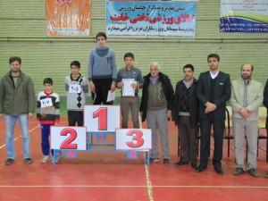 مسابقه بزرگ دو استقامت پسران در دو رده سنی در شهر خامنه برگزار گردید