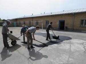 گزارش تصویری از اجرای عملیات پروژه لکه گیری خیابانها و معابر سطح شهر