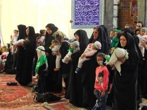 همایش بزرگ شیرخوارگان حسینی در شهر خامنه برگزار گردید