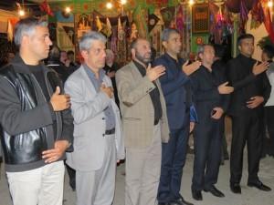 حضور فرماندار و بخشدار مرکزی شهرستان شبستر در مراسم عزاداری سرور و سالار شهیدان(شهر خامنه)