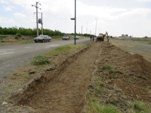 عملیات اجرایی فاز دوم پروژه احداث خیابان شهدای مدافع حرم آغاز گردید