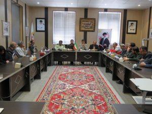 ستاد برگزاری مراسم گرامیداشت ارتحال ملکوتی بنیانگذار کبیر انقلاب حضرت امام خمینی(ره) و راهپیمایی روز جهانی قدس شهر خامنه تشکیل جلسه داد