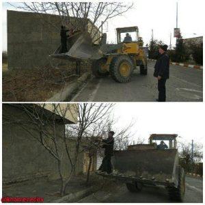 عملیات هرس زمستانه درختان سطح شهر خامنه آغاز شد.