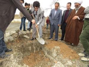 مراسم گرامیداشت هفته منابع طبیعی و روز درختکاری در مدرسه ایثارگران شهر خامنه