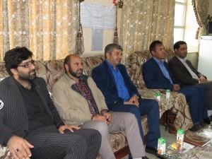 حضور شهردار و جمعی از مسئولین در مدارس شهر خامنه جهت تبریک هفته معلم