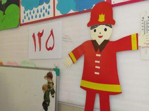 """مسابقه نقاشی کودکان با موضوع روز """"آتش نشانی و ایمنی"""" در شهر خامنه برگزار شد"""