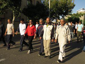 همایش پیادهروی خانوادگی در شهر خامنه برگزار شد