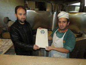 توزیع بقچه های نان در نانوایی های شهر خامنه