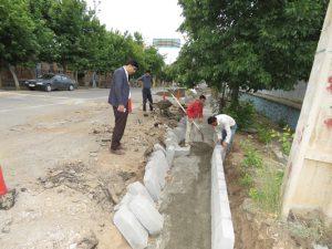 عملیات گسترده جدول گذاری خیابان ها و معابر شهری خامنه آغاز شد