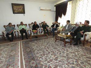 دیدار با جانبازان سرافراز آقایان عهدنو و عباس رنگی همزمان با هفته دفاع مقدس
