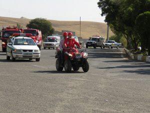 رژه مشترک نیروهای آتش نشانی، امدادی و امنیتی شهر خامنه