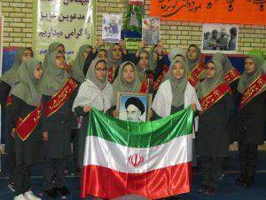 زنگ چهل و یکمین بهار انقلاب در مدارس شهر خامنه طنین انداز شد