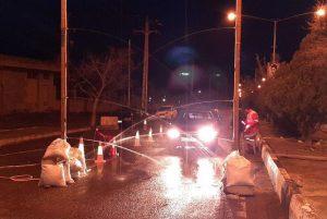 ضدعفونی خودروهای ورودی به شهر خامنه